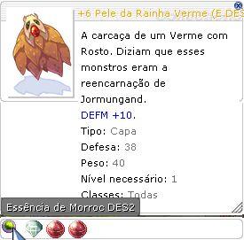 +6 Pele da Rainha Verme (E.DES3) SuperDES  DES+5 SOR +5