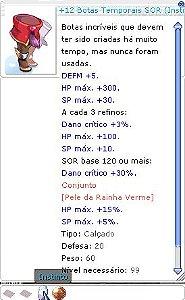 +12 Botas Temporais SOR (Instinto) MA4