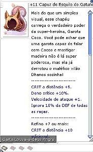 +11 Capuz de Esquilo do Gatuno