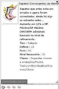 Sapatos Convergentes de Heimdall Selada