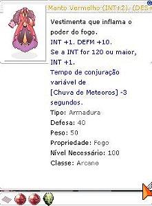 Manto Vermelho INT+2 DES+2 DEFM+2