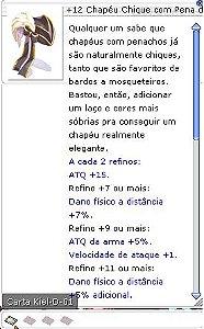 +12 Chapéu Chique com Pena da Pós-conjuração