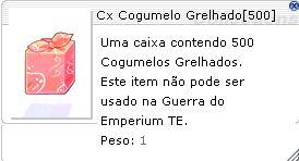 Cx Cogumelo Grelhado [ 500 Und ]