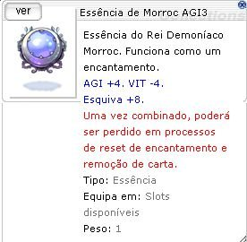 Essência de Morroc AGI3
