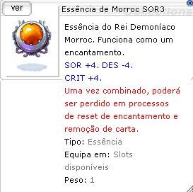 Essência de Morroc SOR3