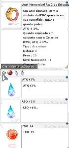 Anel Memóravel RWC do Enlouquecido ATQ 3%/1% For +1
