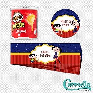 Adesivo para mini lata de Pringles Show da Luna - 12 unidades