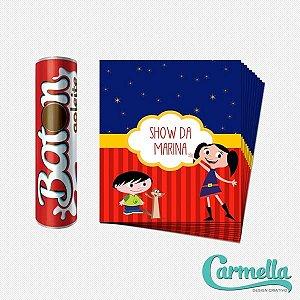 Adesivo para chocolate Baton Show da Luna - 12 unidades