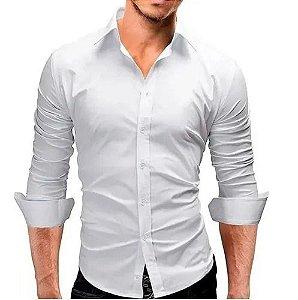 Camisa Social Masculina Slim Fit Luxo