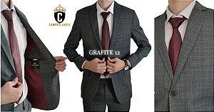 Terno Slim Masculino GRAFITE 12 Microfibra Corte Italiano