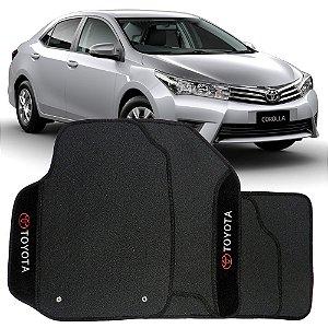 Tapete Corolla 2014 em diante de Borracha c/ Carpete Bordado Personalizado Acompanha Túnel