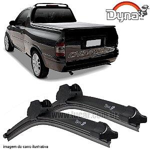 Palheta Limpador de Parabrisa Corsa Pick-Up de 1995 até 2003 da Dyna Modelo Slim Blade, O Par Dianteiro