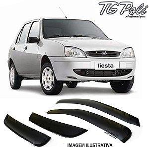 Calha de Chuva Fiesta 4 Portas 1996 a 2002, Fiesta Street 2002 a 2006, Escort Zetec 1997 a 2002 e Vectra até 1995
