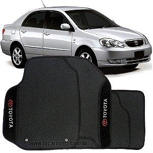 Tapete Corolla 2003 a 2006 de Borracha c/ Carpete Bordado Personalizado