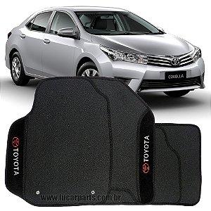 Tapete Corolla 2014 em diante de Borracha c/ Carpete Bordado Personalizado