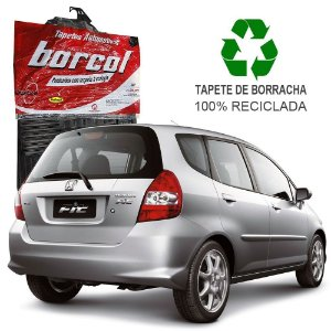 Tapete Borcol Fit 2005 a 2008 de Borracha Jogo c/ 4 Peças
