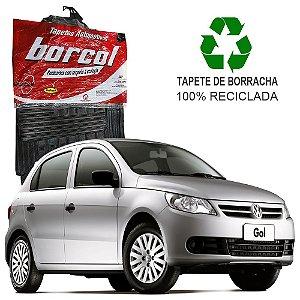 Tapete Borcol Gol e Voyage G5 2008 a 2011 de Borracha Jogo c/ 4 Peças