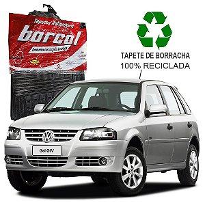Tapete Borcol Gol e Parati G3 e G4 2000 a 2008 de Borracha Jogo c/ 4 Peças