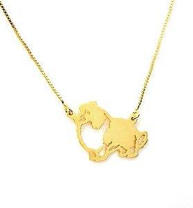Coleção Pet -Border Collie - em prata com banho ouro amarelo