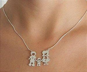 Colar Família - Personalizada - Prata Pura