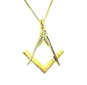 Colar Arquitetura - Prata 925 banhado a ouro Amarelo com Zircônia