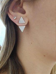 Ear Jacket Triângulo - Luxo