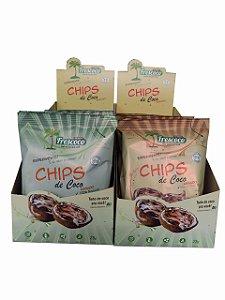 Chips de Coco 25g Caixa Mista 20 unidades