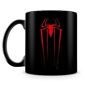 Caneca Personalizada Homem Aranha (100% Preta)