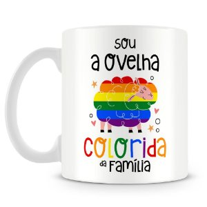 Caneca Personalizada Ovelha Colorida da Família