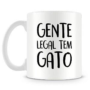 Caneca Personalizada Gente Legal Tem Gato