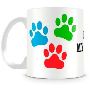 Caneca Personalizada I Love My Dog (Mod.1)