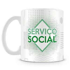 Caneca Personalizada Serviço Social (Com Nome)