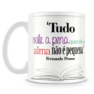 Caneca Personalizada Poeta Fernando Pessoa
