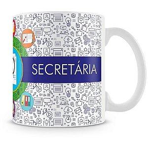 Caneca Personalizada Profissão Secretária (Com Nome)