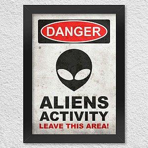 Poster Danger Aliens Activity
