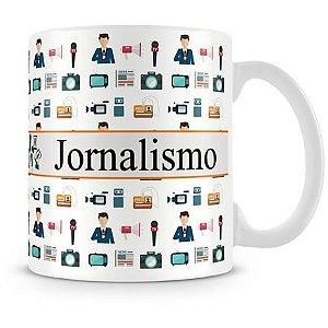 Caneca Personalizada Profissão Jornalismo (Com Nome)