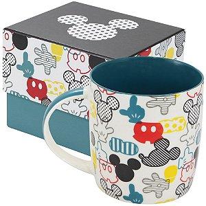 Caneca de Porcelana Mickey Elementos