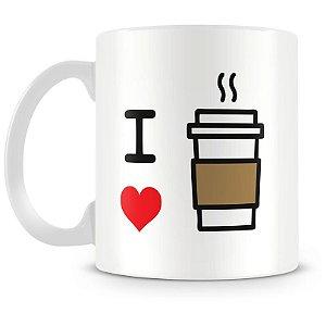 Caneca Personalizada Eu Amo Café