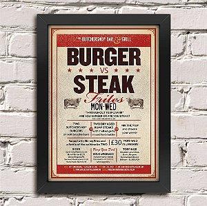 Poster Burger vs Steak