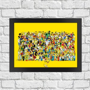 Poster Os Simpsons Personagens