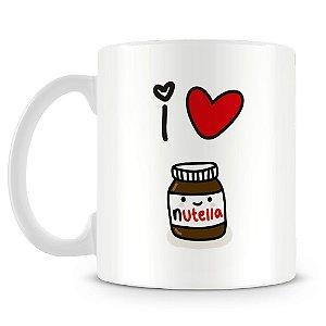 Caneca Personalizada Eu Amo Nutella