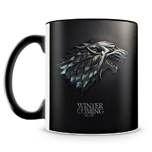 Caneca Personalizada Game Of Thrones Stark (Preta)