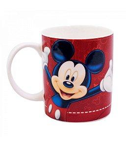 Caneca de Porcelana na Lata Vermelha Mickey