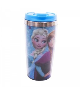 Copo Térmico com Tampa Anna, Elsa & Olaf Frozen (Azul)