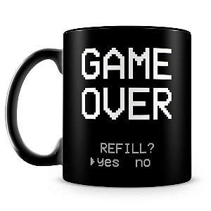 Caneca Personalizada Game Over (100% Preta)