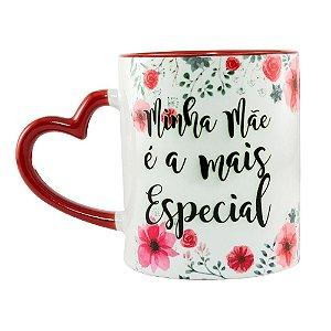 Caneca Personalizada Alça Coração Mãe Especial