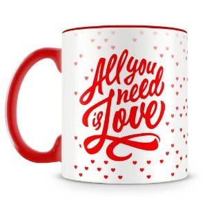 Caneca Personalizada All You Need is Love (Vermelha)