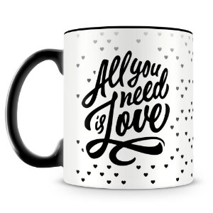 Caneca Personalizada All You Need is Love (Preta)