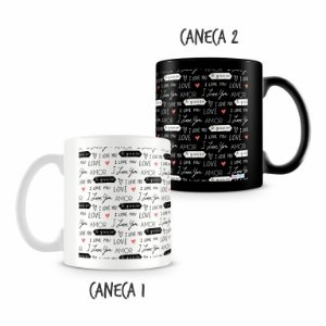 Caneca Dupla Personalizada I love You