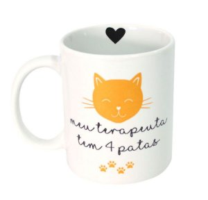 Caneca de Porcelana Terapeuta 4 Patas (Gato)